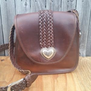 Vintage Brighton Saddle Leather Crossbody Bag